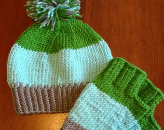 Hat and Mitt set
