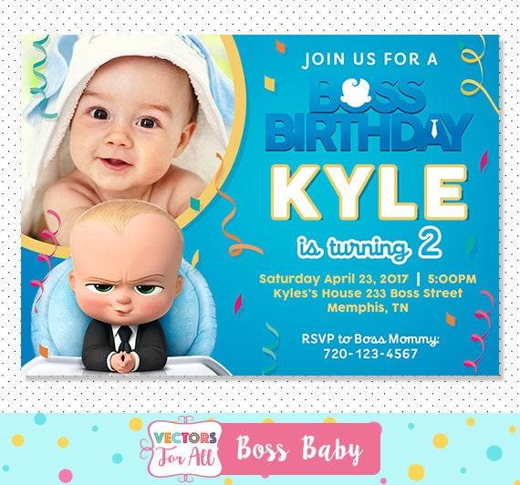 Boss Baby Invitation Boss Baby Party Boss Baby Invite Boss