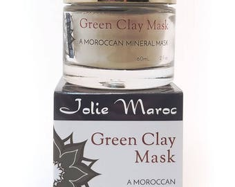 Moroccan Green Clay Mask  100% Pure Natural Organic From Morocco