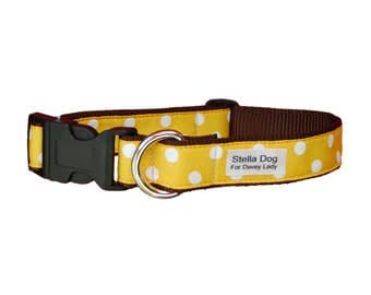 Yellow Large Polka Dot Collar *FREE SHIPPING*