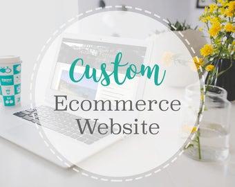 Custom Ecommerce Website Design • Responsive Website •  Wordpress Shop • WooCommerce • Shopping Web Design • Custom Shopping Website