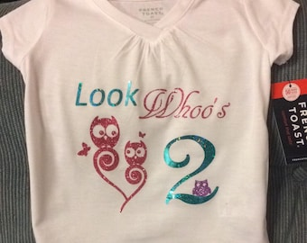 Toddler Customized Birthday Shirts