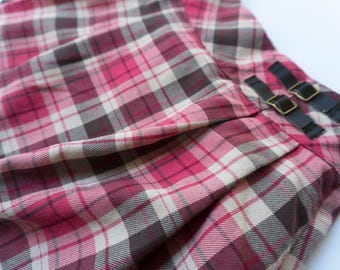 Pink and Brown Plaid Janie and Jack School Girl Skirt