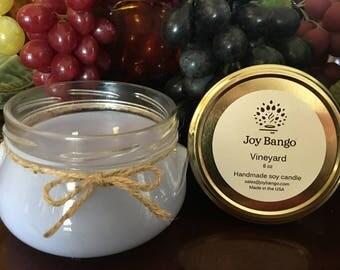Vineyard - Handmade Soy Candle - 8 oz