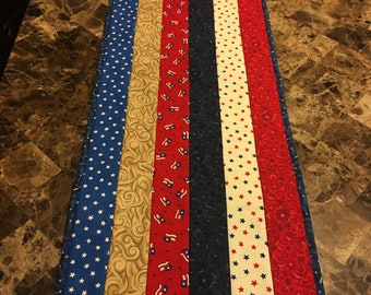 Memorial Day or 4th of July reversible table topper