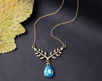 Angelic Sapphire Teardrop necklace