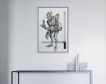He found life -fine art print-