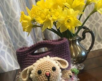 Sheep Easter Basket for Kids