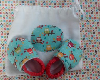 Soft sole baby shoes booties owl boy shoes girl shoes baby gift owl booties owl crib shoes blues owl Baby shoes