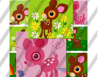 Deery 1 inch square sheet size 4x6