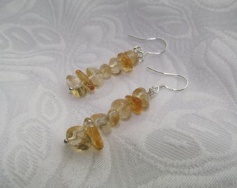 Citrine beauty earrings
