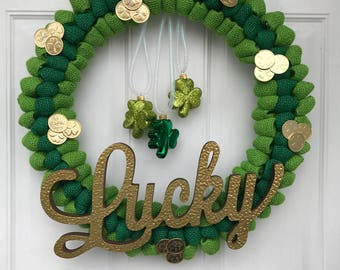 Lucky Burlap Wreath
