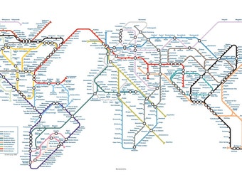 Eurocentric World Underground Tube Map