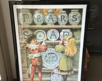 Pear's Soap advertising poster