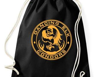 Dancing Elk condors Juno gym bags