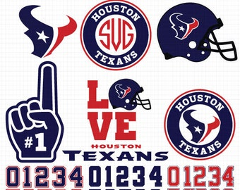 Houston Texans- Cuttable Design Files(Svg, Eps,Dxf, Jpg) For Silhouette Studio, Cricut Design Space, Cutting Machines,Instant Download