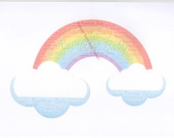 Rainbow baby word art (UNFRAMED)