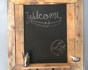 reclaimed wood chalk board