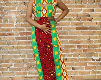 Ankara Cutout  Dress