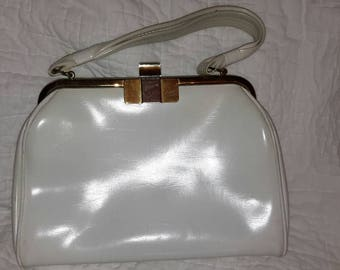 Vintage white patent leather purse