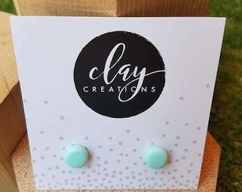 Circle Earrings - Minty Fresh