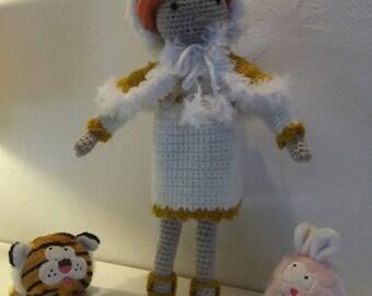 "Doll decorative amigurumi in cotton, ""Irys"", entirely handmade crochet"