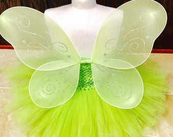 Tinkerbell tutu dress, fairy tutu dress, first Birthday tutu