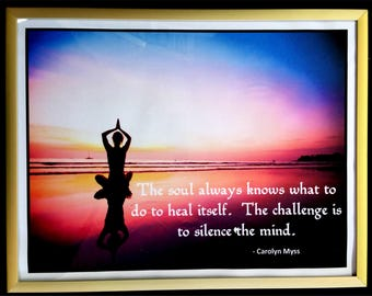 The Soul Always Knows 8 1/2 x 11 picture frame