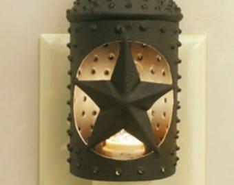 Night Light Star Lantern - Rustic Barn Bronze