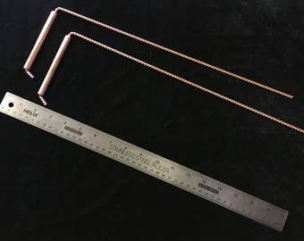Twisted Copper Wire Divining Rod (Royal Cubit)
