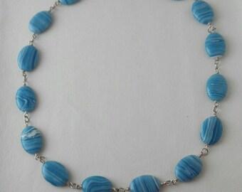 Handmade Chalcedony Necklace