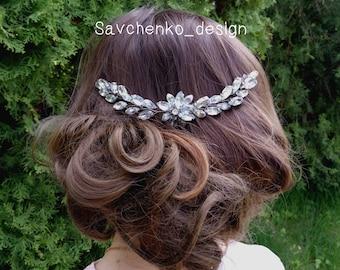 Bridal Hair Comb,Haarschmuck hochzeit,Leaf hair vine,Decorative Clip,Bridal halo,Shabby Chic French Country wedding Hair combs