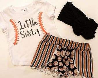 Little Sister Short Set with bow