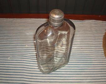 World War 1 era flask with nickle silver cap