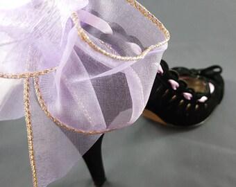 Faux Velvet 'Ribbon' Heels
