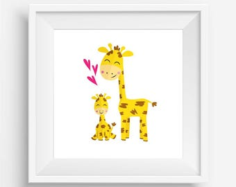 Baby Giraffe and Parent