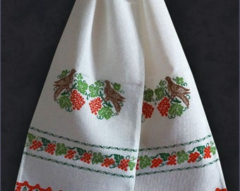 Wedding towel with embroidery