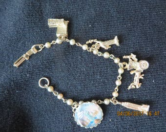 Vintage New York City Charm Bracelet with Statue of Liberty