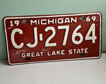Vintage 1969 Michigan License Plate