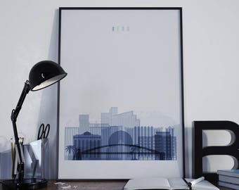 Reno Art Reno Watercolor Reno Multicolor Reno Wall Art Reno Wall Decor Reno Home Decor Reno Skyline Reno Print Reno Poster Reno Photo
