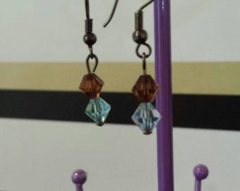 Earrings made with genuine swarovski stones