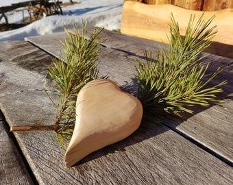 Heart pine carved, handmade from Styria, Austria