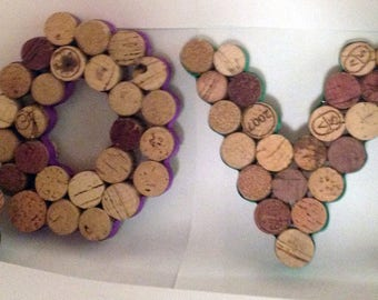 LOVE Wine Cork Wall Hanging