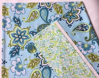 Floral and Paisley Pillowcases, Blue and Green Pillowcases, Pillowcases Pair, Standard Pillowcases, Floral Pillowcases, Blue Floral Pillowca
