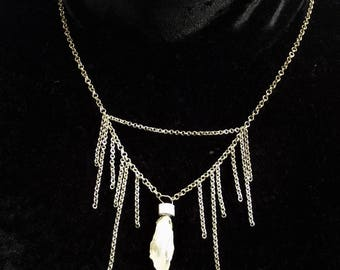 Quartz and Chains necklace
