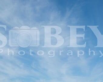 Blue Sky and Cloudy Sky Overlay