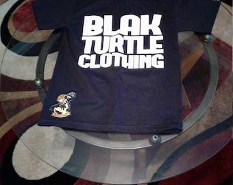 Blak turtle patchwork t shirt