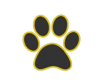 dog paw Embroidery file Digital embroidery files Machine embroidery