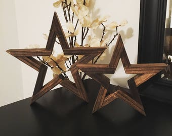 Wooden stars - Wall Decor - Rustic Decor - Rustic Star - Rustic Style - Farmhouse - Tabletop Decor - Wood Star - Americana - Nursery Decor