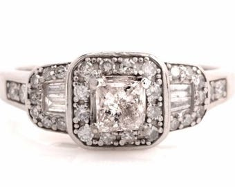 1 Carat Natural Diamond Platinum Ring
